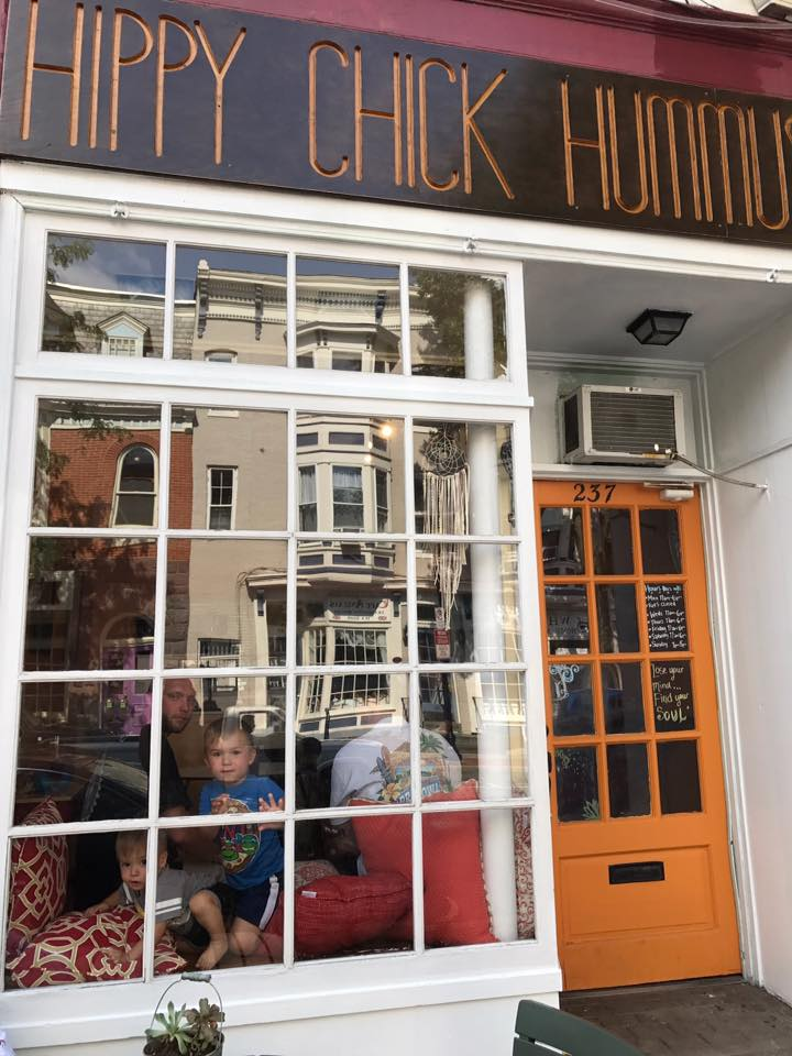 Look for the Orange Door :) !!